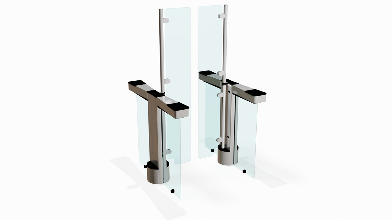 Fastlane Glassgate 300 entrance control security speedgate turnstiles