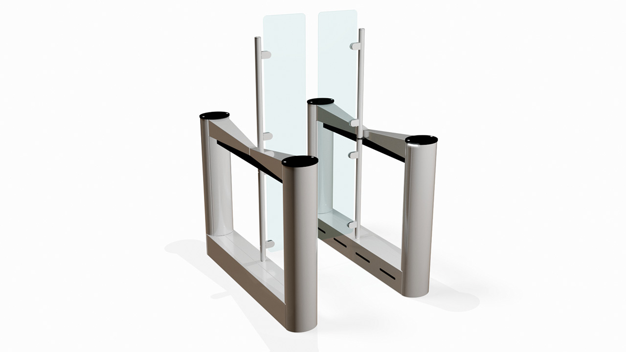 Fastlane Glassgate 400 entrance control security speedgate turnstile
