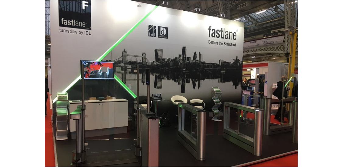 UK Security Expo 2017 Fastlane Turnstiles stand