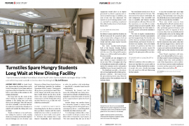 Image of case study in Campus Safety Magazine about Fastlane Turnstiles at the University of Notre Dame in Indiana