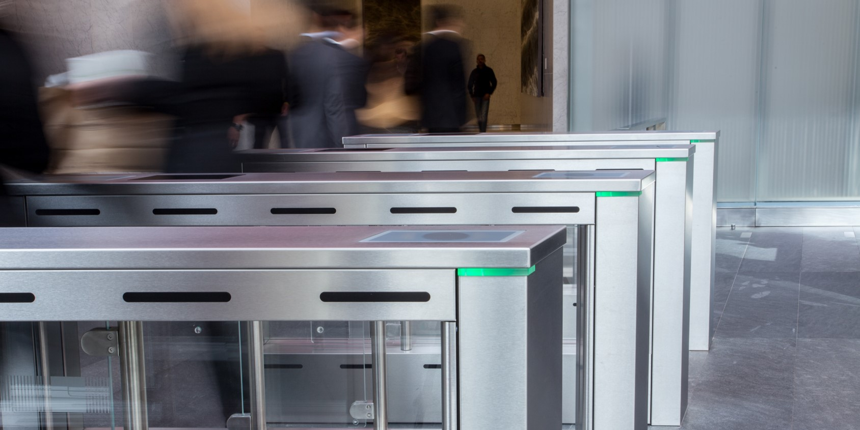 Fastlane turnstiles in World Trade Centre