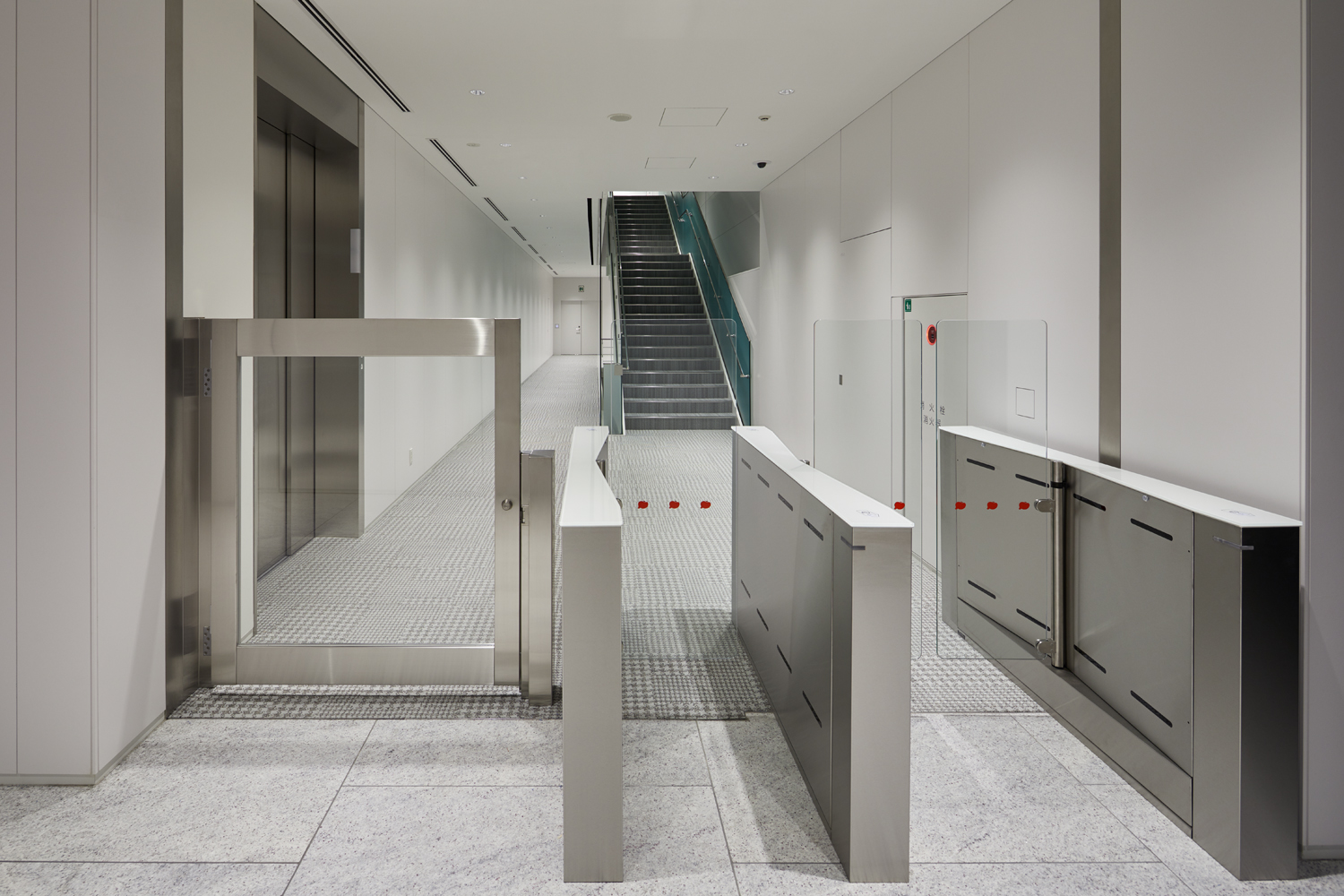 Fastlane turnstiles installed in Toei Animation HQ Japan