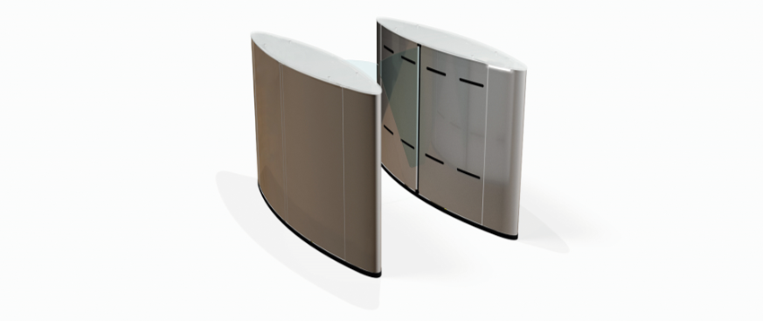 Fastlane Glasswing entrance control security speedgates turnstile