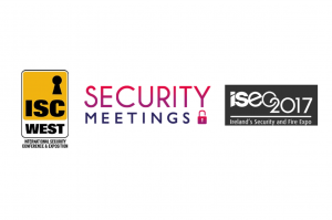 ISC West logo Security Meetings logo and ISEC 2017 logo