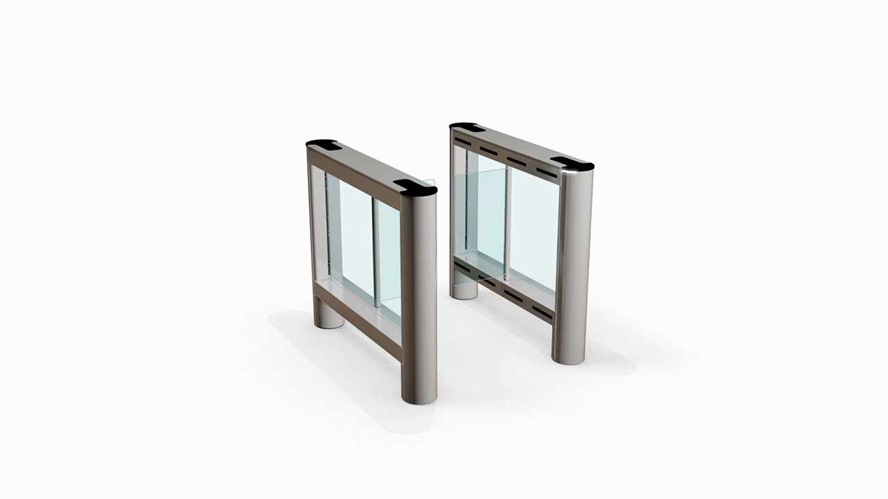 Fastlane Glassgate 150 Satin Silver Glass Edge speedgate entrance control security turnstile