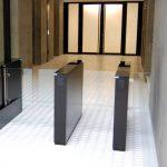 Fastlane Glassgate 200 entrance control security speedgate turnstile in situ at Angel Building