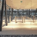 Fastlane R400MA entrance control security turnstiles in situ at UNESCO Headquarters