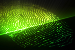 Fingerprint being read with biometrics