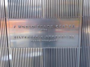 7 World Trade Center sign