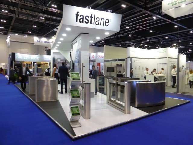 IFSEC 2017 Fastlane stand with personnel