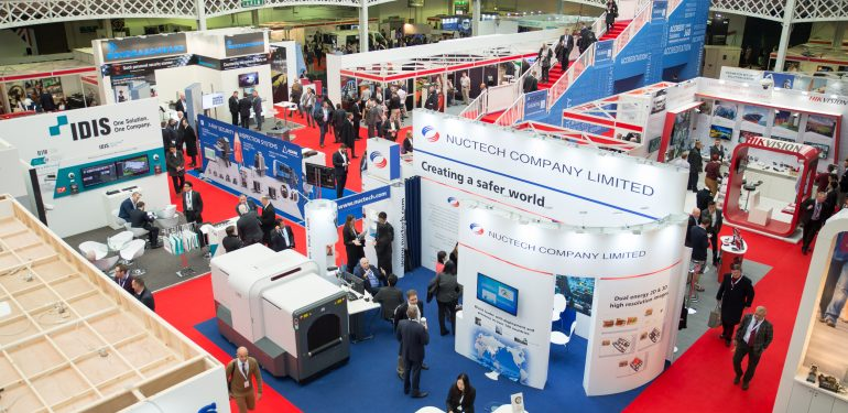 View over Security Expo 2016 stands and people