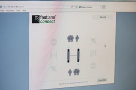 Fastlane Connect entrance control security web programme on screen