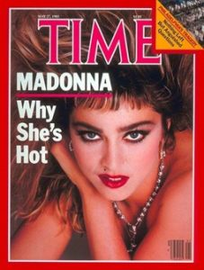 Cover of Time Magazine 1985 Madonna