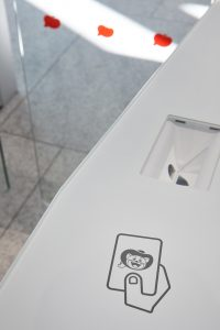 Fastlane turnstiles with card reader integration Toei Animation Japan