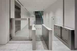 Fastlane turnstiles installed in Toei Animation HQ Japan