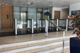 Fastlane turnstiles at Allianz Insurance HQ