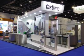 Fastlane turnstiles 2018 exhibition stand