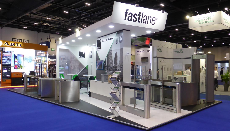 Fastlane turnstiles 2018 exhibition stand