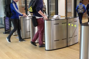Fastlane turnstiles in Glucksman library university of limerick