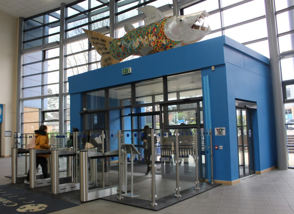 Fastlane turnstiles installed at Canterbury College