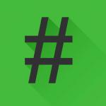 Grey Hashtag on Green Background