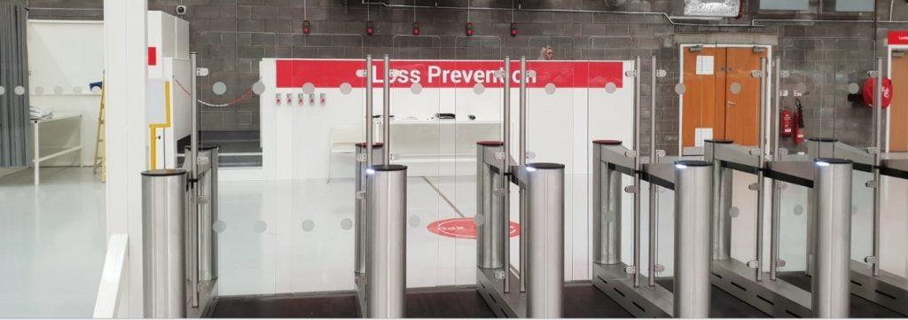 entrance control retail environment