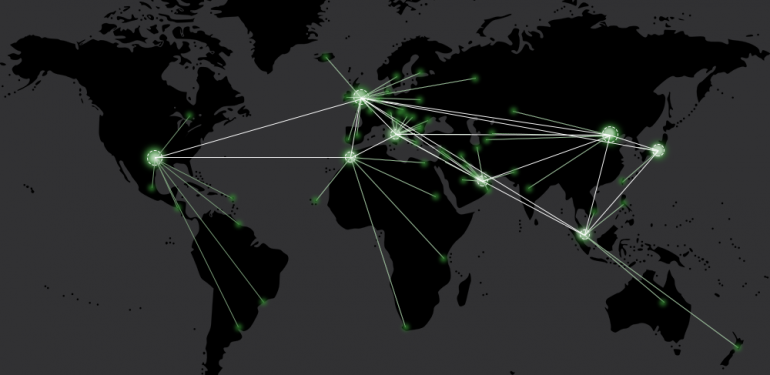 World map showing where Fastlane products are installed