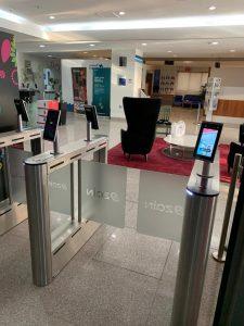 Zain Telecom Fastlane Turnstiles installation