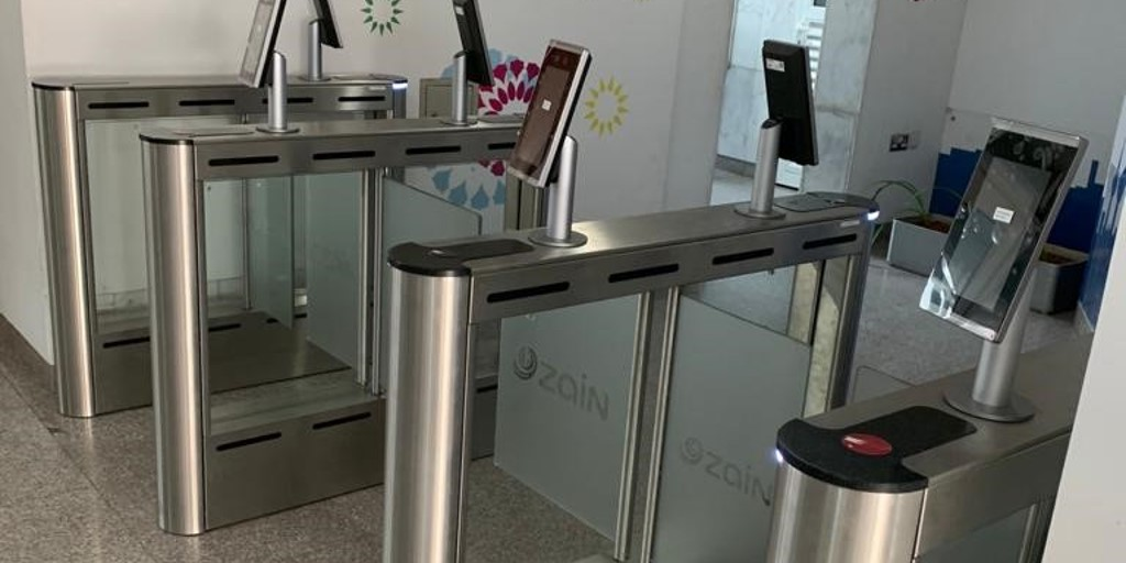 Zain Telecommunications Fastlane Turnstiles installation