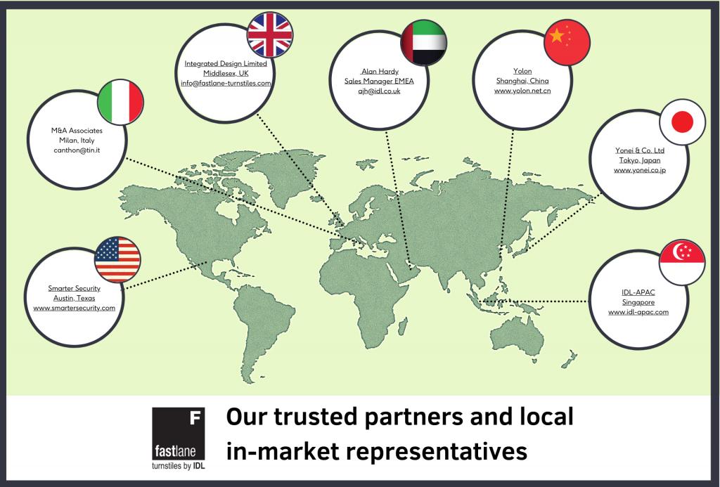 IDL Fastlane global distributors map