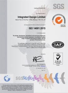 Integrated Design Limited ISO 14001