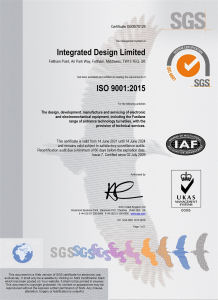 Integrated Design Limited ISO 9001